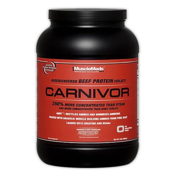Test complement alimentaire :  ISolat de proteine de boeuf Carnivor de MuscleMeds