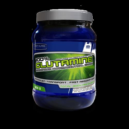 Test complement santé:   100 % Glutamine de  FirstClass Nutrition