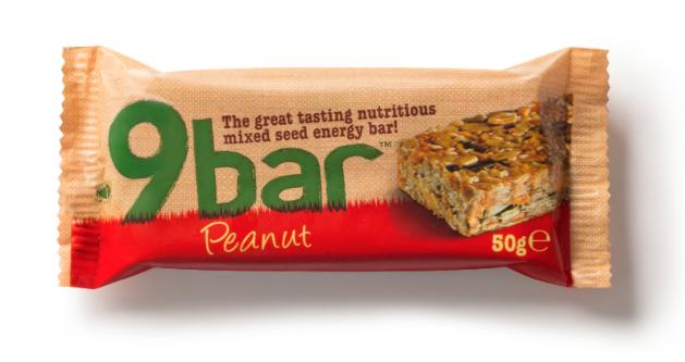 Test  complement alimentaire : 9BAR SINGLES 40G , des barres énergétiques à base de graines