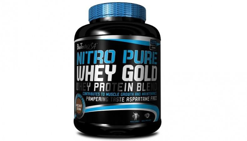 Test complement alimentaire :Protéine Nitro Pure Whey Gold de BiotechUSA