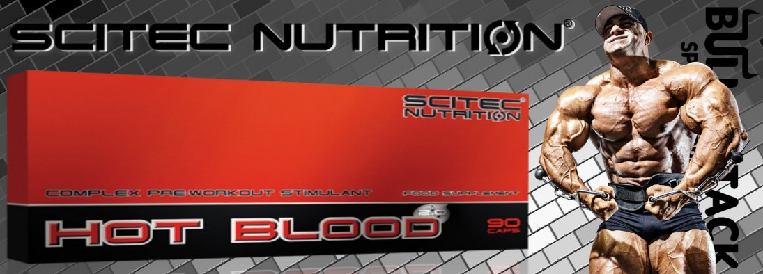 Test complement alimentaire :Booster pré training Hot Blood CAPS 2.0 de Scitec Nutrition