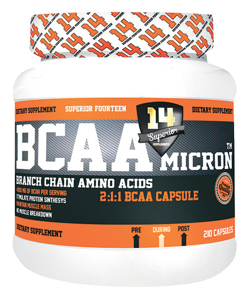 Test complement alimentaire : BCAA Micron 2:1:1 de Superior14