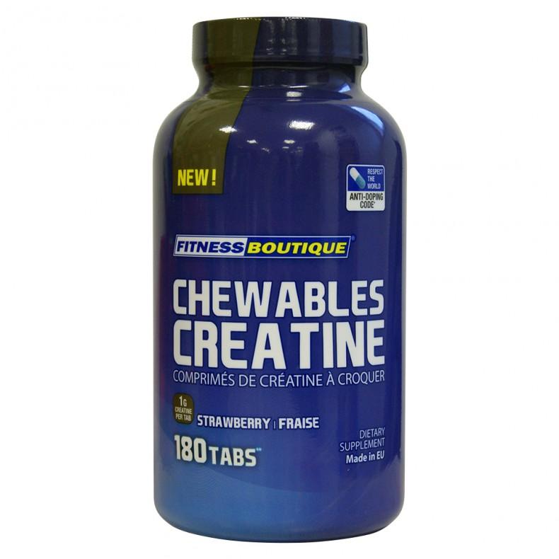 Test complement alimentaire :Chewables Créatine de Fitness Boutique