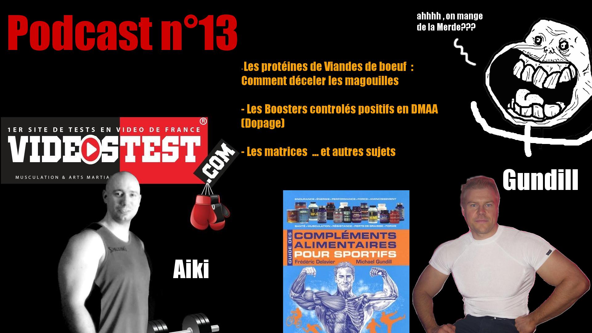Podcast n°13 : Magouilles dans les protéines de Boeuf, Boosters contrôlés positif au DMAA… avec Michael Gundill