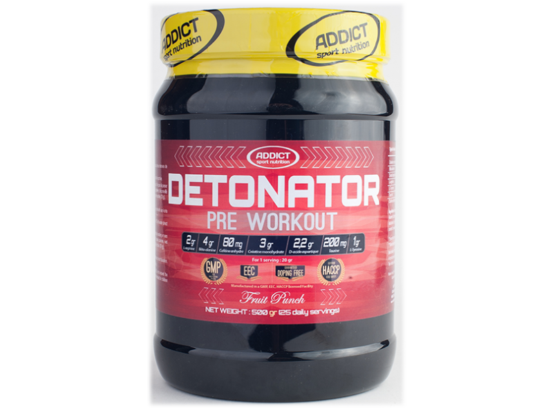 Test Complement alimentaire : booster Detonator d'Addict Sport Nutrition