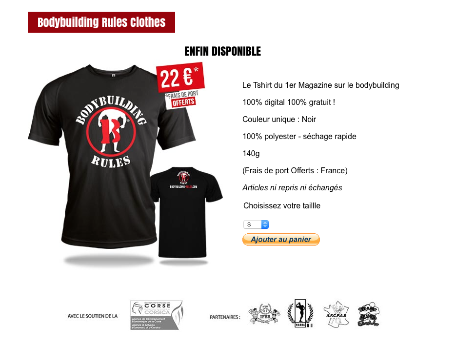 BODYBUILDING-RULES : Les T-shirts