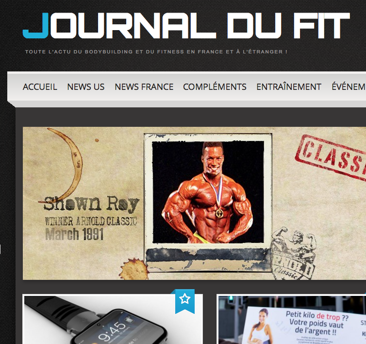 Journal du Fit : le site