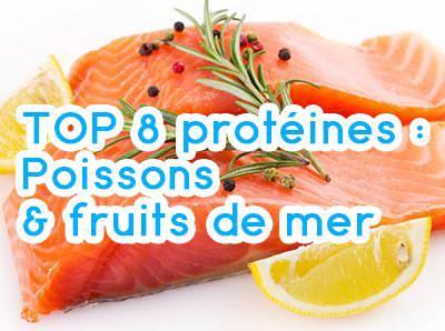top 8 des poissons contenant de la proteine