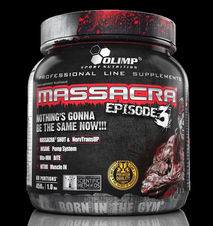 Test Complement alimentaire : booster Massacra 3 de Olimp Nutrition