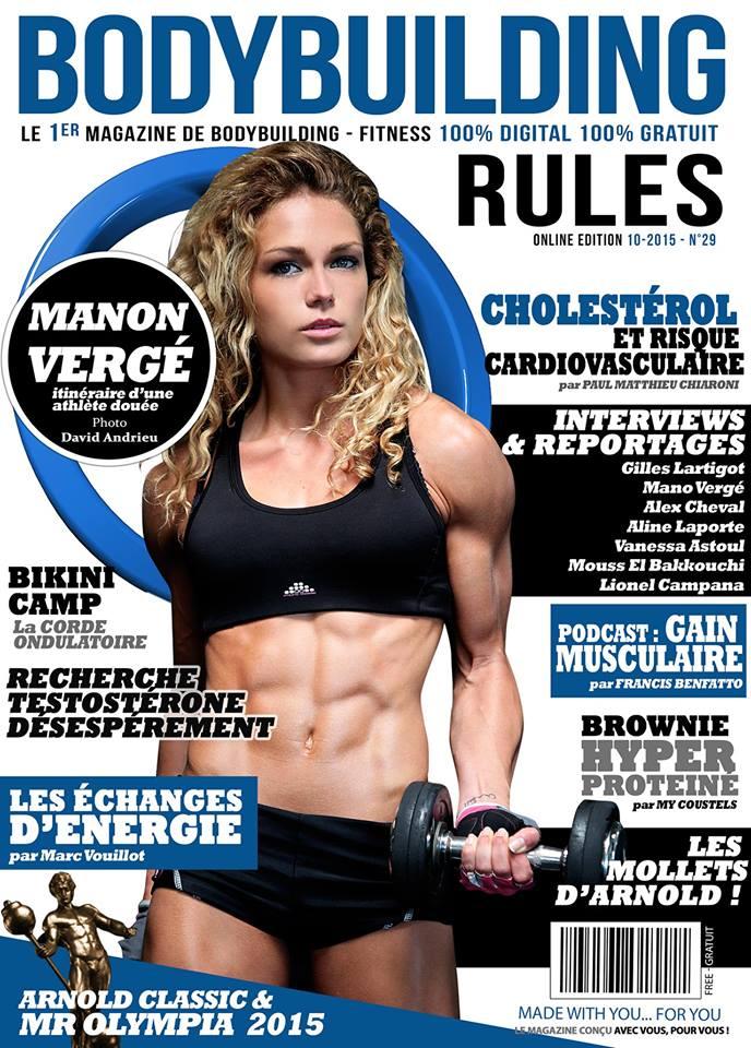 Nouveau numéro de Bodybuilding-rules :  Le Fitness à l'honneur avec la championne Manon Vergé