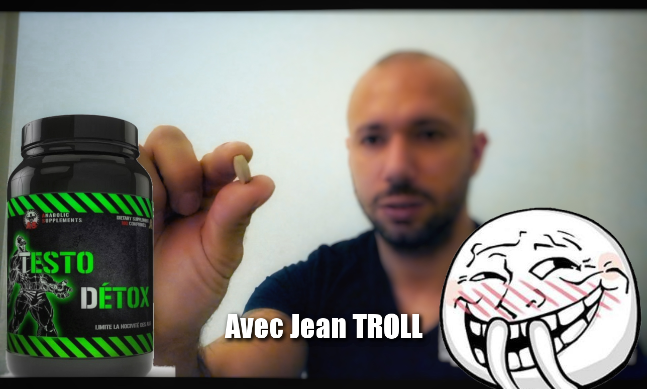 TEST COMPLEMENT ALIMENTAIRE : TESTO DETOX d'ANABOLIC SUPPLEMENT