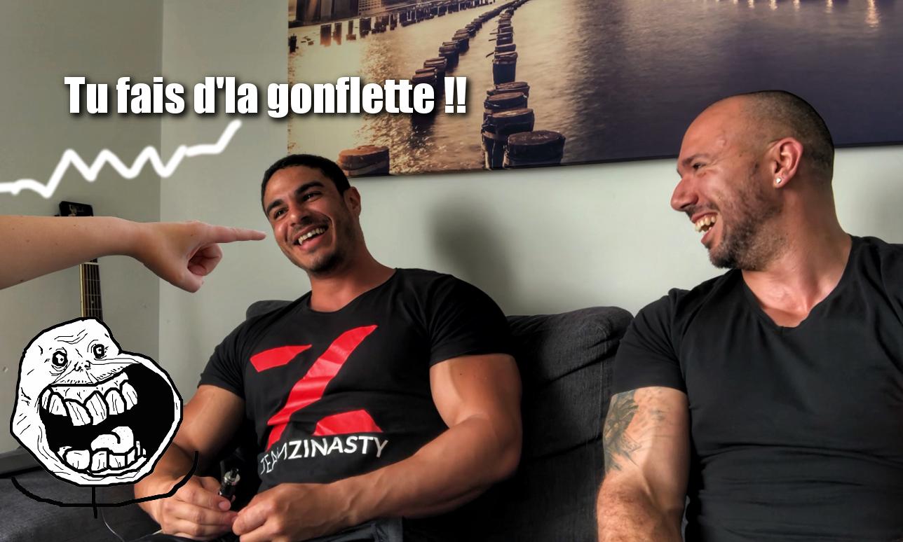 LA MUSCULATION C'EST QUE DE LA GONFLETTE !! MEME SI TU TE FRUITES – Feat Loic Zine
