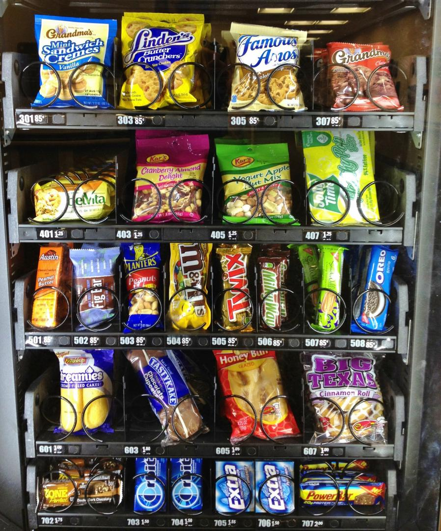 VIDEO. On a analysé les produits d'un distributeur de friandises et ça nous a un peu coupé la faim